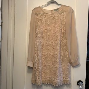 Pink blush lace dress with seperate slip